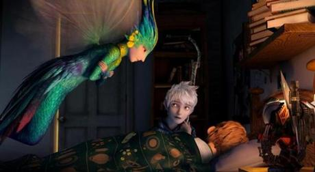 "From left: Tooth (Isla Fisher), Jack Frost (Chris Pine), and Jamie (Dakota Goyo) in ""Rise of the Guardians."""